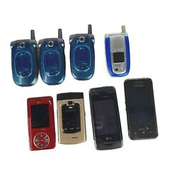Lot Of 7 Miscellaneous Verizon Atandt Cell Phones As Is Some New Some Used Parts