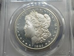 1884-cc Morgan Silver Dollar Pcgs Ms64+dmpl Gold Shield Awesome Coin Low Pop 76