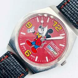 Seiko Mickey Mouse Men's Watches Mechanical Self-winding Vintage