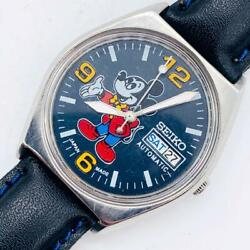 Seiko Mickey Mouse Men's Watches Mechanical Self-winding Antique Vintage