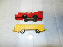 Marx Windup Plastic Engine, Gondola From The Channel Train Sets
