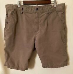 Hawke And Co. Outfitter Menand039s Brown Cotton Blend Shorts Sz. 40 Excellent Condition