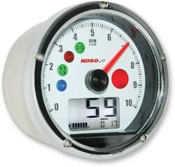 Koso Tnt Multifunction Tachometer/speedometer With White Face