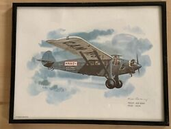 Nixon Galloway United Airlines Collector Series Aircraft Print Framed