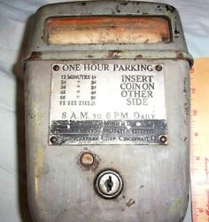 Early Penny Parking Meter Vintage Old Collectible Transportation Memorabilia