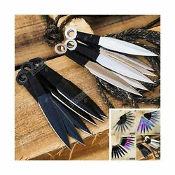Tactical Knife Survival Knife Hunting Knife 12 Piece Throwing Knives Set Fixe...