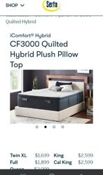 New Serta Cf3000 Quilted Hybrid Plush Queen Cooling Mattress 2100