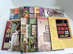 Lot Of 14 - Quilting Pattern Sewing Books Patchwork Techniques