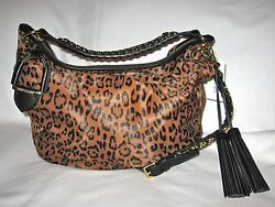 Collection Leopard Hair Hobo Bag Made In Italy Retail3250+tax