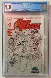 Young Avengers 1 🔥wizard World La Sketch Variant Cover 1st Kate Bishop Cgc 9.8