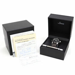 Sinn 104.st.sa Watch Black Dial Brown Leather Belt Automatic Menand039s Model
