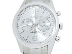 Bell And Ross Vintage Officer Chronograph Br126-94-sp Ss Auto Menand039s Watcha51868