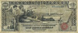 1896 1 Silver Certificate Large Size  Educational Series Sharp Very Fine