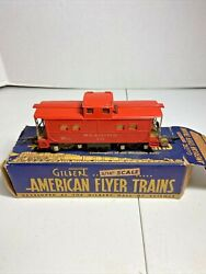 Vintage American Flyer S Scale Lighted Reading Caboose  630 In Box