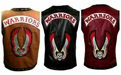 The Warriors Movie Real Leather Vest/jacket Sheep Skin Gun Pocket Soft Leather