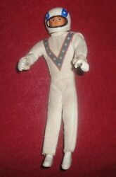 Vintage 1972 Ideal Evel Knievel 7 Stunt Cycle Doll Figure W/ Helmet And Suit Evil