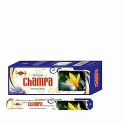 Shashis Champa Hexa 20 G 6 Packs Of 20 Sticks Each Temple Puja Use