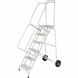 Ballymore Rolling Ladder Capacity 350 Lb Height 93 In. Stainless Steel