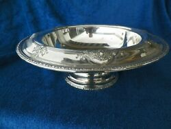 Late 1800and039s Matthew And Prior 13 Diameter Footed Sterling Silver Bowl 9689