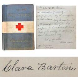 Clara Barton Bas Mint 8 Autograph The Red Cross In Peace And War Book Signed