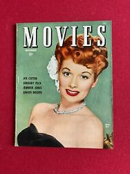 1944 Lucille Ball Movies Magazine No Label Scarce I Love Lucy