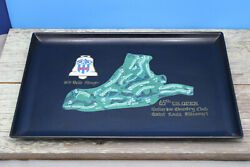 Couroc Inlaid Tray 65th Us Open Bellerive 1979 Belle Ringer St. Louis 15.5 Usa