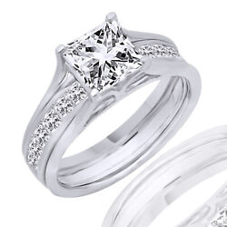 1.75 Ct Square Princess Cut Solitaire Anniversary Engagement Ring 14k White Gold