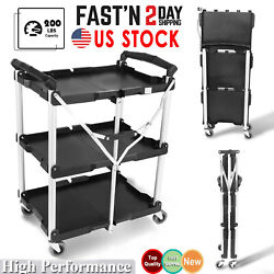 Tools 85-188 Pack-n-roll Folding Collapsible Service Cart 200 Lb. Load Capacity