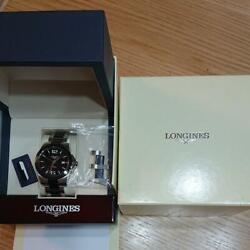 Longines Conquest L3.657.4.56.71 Menand039s Watch Black Dial Ss Very Good Authentic