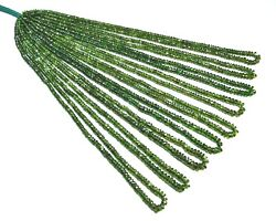 103-015 Chrome Diopside Natural Gemstone Rondelle Faceted Beads 17 9 Strand Lot