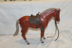 Vintage Louis Marx Johnny West Horse Sorrel Pancho With Accessories B