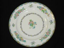 4 Minton England Pink Blue Floral Dinner Plates B937 10.25 Inch
