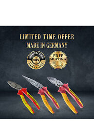 New Vde Plier And Cutter Wire Snipe Nose Long Set Tool High Quality Germany