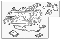 Oem New 2016-20 Gm Chevrolet Camaro Coupe Driver Side Headlamp Assembly 84364823