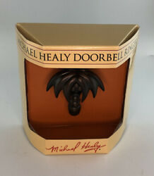 Michael Healy Handcrafted Doorbell Ringer Polished Brass Palm Tree