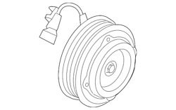 Genuine Ford Clutch And Pulley Hc3z-19d786-c