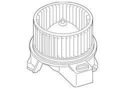 Oem New 2010-2014 Ford Mustang Fan And Motor Assembly Ar3z-19805-b