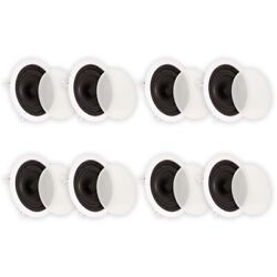 Theater Solutions 4 Pair 6.5 In Ceiling Surround Home Theater Speakers 4ts65c