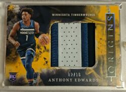 2020-21 Panini Origins Anthony Edwards Rookie Large 3 Color Patch /10 Rc🔥📈🔥