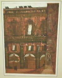 Richard Beer Arcade London Hand Signed Limited Edition Color Etching