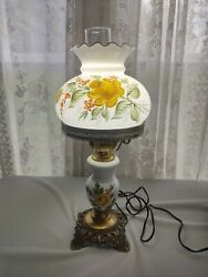 Westmoreland Line 1940-2 Electric Lamp Hand Painted Yellow Roses D Schnupp 1978