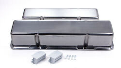 Racing Power Co R6030-1 Aluminum Tall Valve Covers Fits Sbc Engines