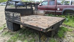 9x8 Steel Flat Box Body Zero Rust Bed Ford Chevy Dodge Drw Dualy Used Triangle