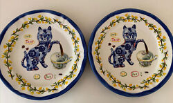 2 Nathalie Lete Anthropologie Cat Teapot Cup Tasse The French 10 Dinner