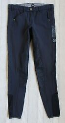 Pikeur Sally Slim Grip Navy Blue Breeches Full Seat Equestrian Size Us 26