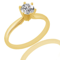 2.80ct Simulated Ideal Cut Round Diamond Classic Ring 18k Yellow Gold