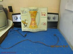 Rare Heilemanand039s 1956 Old Style Lager 3d Light Up Flasher Beer Sign La Crosse Wi