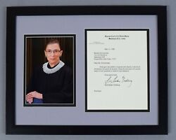 Ruth Bader Ginsburg Signed Auto Autograph Scotus Letterhead Letter Jsa/dna