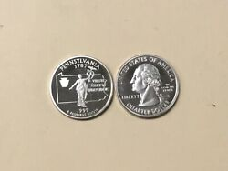 1999 S Pa 50 States Silver Quarter Gem Proof Unc Ungraded But A High Grade