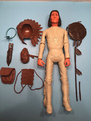 Vintage 1967 Marx Johnny West Geronimo Indian Action Figure With Accessories